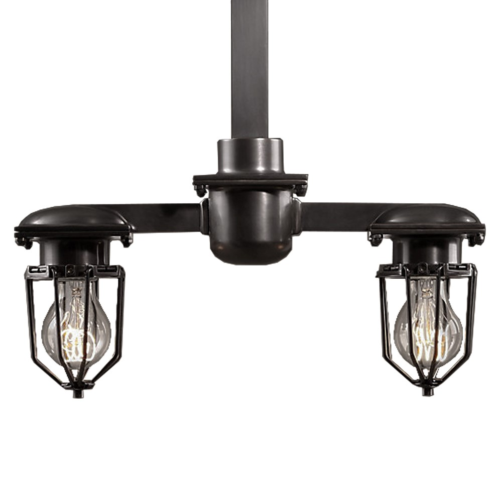 Metropolitan 2 Light Pendant Light Fixture With Black