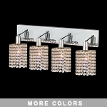 "Hollywood Design 4-Light 26"" Round Wall Sconce Rectangular Bath Bar Dressed with  30% Lead or Swarovski Spectra Crystal SKU# 11483"