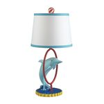"Davy 1-Light 23"" Dolphin Table Lamp 112-1104"