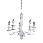 Gloss White 5-Light Chandelier Gloss White 123-003