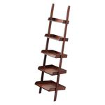 Vintage Library Ladder Leaning Shelf 125-005
