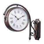 Antique Double Sided Bronze Wall Clock 125-035