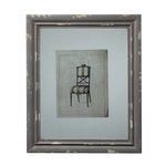 Distressed Grey Picture Frame With Antique Chair Print 128-1029