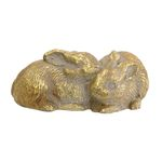 Twin Bunnies Gold Statue 4-85089