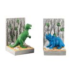 Kids Dinosaur Bright Green / Blue / Grey Bookends 93-10088/S2