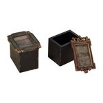 Tuscan Gold With Black Tuscan Boxes (Set Of 2) 93-19214