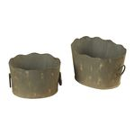 Antique Metal Montauk Grey Storage Dishes - Small 93-9146