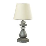 Mini Crystal Accents Montauk Grey Table Lamp 93-9191
