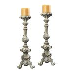 Stone Finish Candle Holders Candleholder 93-9279