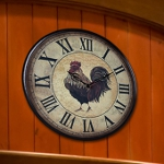 Small Rooster Clock 118-011