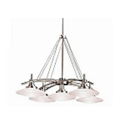"Structures Collection Brushed Nickel Contemporary 5-Light 30"" Chandelier Kichler 2055BN"