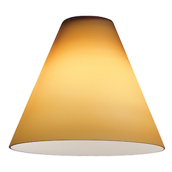 Amber Mini Pendant Glass Shade From The Inari Silk Collection