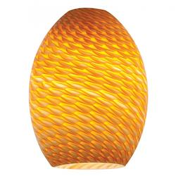 Amber Fire Bird Firebird Ostrich Glass Shade