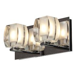 Two Light Chrome Glass Wall Light - 102796