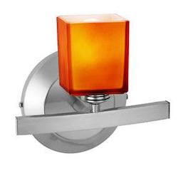 Chrome / Amber Sydney 1 Light Wall Sconce