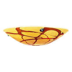 Safari Bowl Pendant Glass Shade In Lava Finish