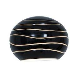 Black Line Sphere Etched Glass Shade