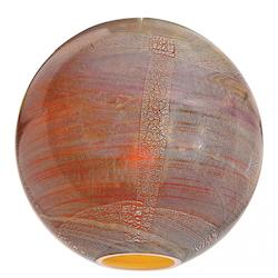 Safari Pendant Glass Shade Silver Amber Opaline Finish