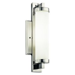 Polished Chrome Modern 1 Light 18 Watt Fluorescent Wall Sconce from the Jervis Collection