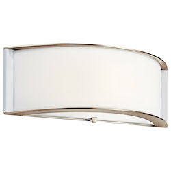 Kichler One Light Polished Nickel Wall Light - 10630PN