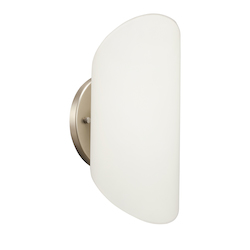 Brushed Nickel Modern Single Light Ambient Lighting Wall Sconce
