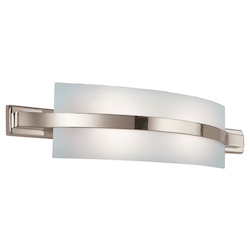 Polished Nickel Freeport Energy Star Rated 28in. Wide 2-Bulb Bathroom Lighting Fixture
