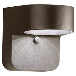 Textured Architectural Bronze 6in. Energy Efficient LED Outdoor Wall Light