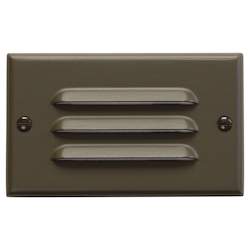 Architectural Bronze Step and Hall Light Single Light 5in. Wide LED Step Lighting Fixture