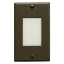 Architectural Bronze Functional 4.5in. x 2.75in. Vertical Lens Step Light from the Step and Hall Light Collection