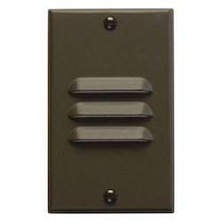Architectural Bronze Functional 4.5in. x 2.75in. Vertical Louver Step Light from the Step and Hall Light Collection