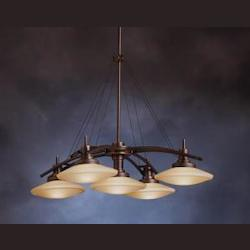 Structures Collection Olde Bronze Contemporary 5-Light 30