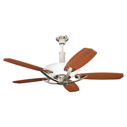 Kichler Six Light Polished Nickel Ceiling Fan - 300126PN