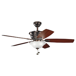 Kichler Three Light Oil Brushed Bronze Ceiling Fan - 300159OBB