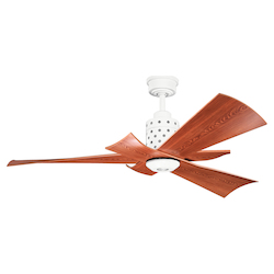 Kichler One Light White Ceiling Fan - 300163WH
