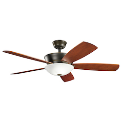 Two Light Oiled Bronze Ceiling Fan - 105946
