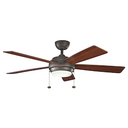 One Light Olde Bronze Ceiling Fan - 105955