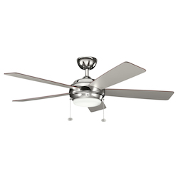 One Light Polished Nickel Ceiling Fan - 105956