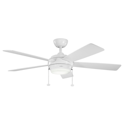 One Light White Ceiling Fan - 105958