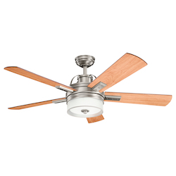 Antique Pewter 52in. Energy Star Indoor Ceiling Fan with 5 Blades - Includes CoolTouch Remote, Light Kit, and 6in. Downrod