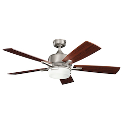 Antique Pewter 52in. Energy Star Indoor Ceiling Fan with 5 Blades - Includes Light Kit and 4in. Downrod