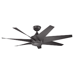 Distressed Black Ceiling Fan - 106026