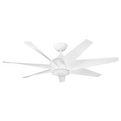 White 54in. Outdoor Ceiling Fan with 6 Blades - 106027