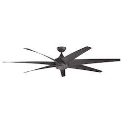 Distressed Black 80in. Outdoor Ceiling Fan with 6 Blades - 106030