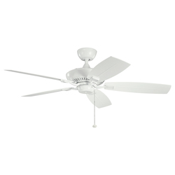 White With White/white Blades Canfield 52in. Indoor Ceiling Fan with 5 Blades - Includes 4in. Downrod