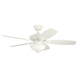 Kichler Two Light Satin Natural White Ceiling Fan - 337016SNW