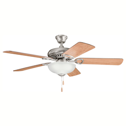 Antique Pewter Sutter Place Select 52in. Indoor Ceiling Fans with 5 Blades - Includes Light Kit and 4in. Downrod