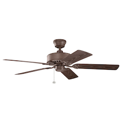 Tannery Bronze Powder Coat Ceiling Fan - 106512