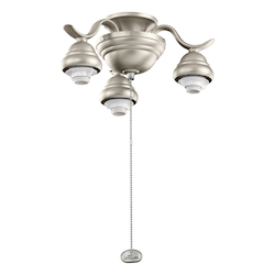 Kichler Three Light Brushed Nickel Fan Light Kit - 350101NI