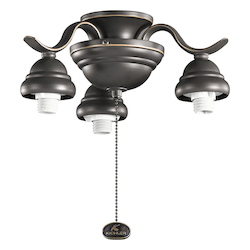 Three Light Olde Bronze Fan Light Kit - 106651