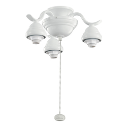 Kichler Three Light White Fan Light Kit - 350101WH